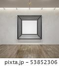 metal frame construction into the loft interior, 53852306