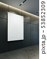 blank picture frame on the wall, 3d rendering 53852309
