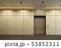 modern elevator with closed doors in office lobby 53852311