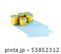 growing stack of coins for mortgage concept 53852312