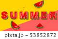 夏 すいか スイカのイラスト 53852872