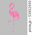 Pink glitter flamingo shining banner Vector. Night 53852930