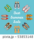 Men's and Women's shoes top view. Shoes icons. Sneakers and Slippers collection. Vector 53853148