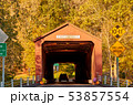 Covered bridge in West Cornwall, Connecticut 53857554