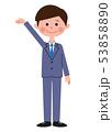 スーツの男性 案内 全身 53858890