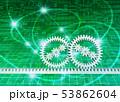 インターネット網と歯車 53862604