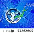 日本地図と歯車と株式市場 53862605