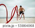 ビーチ 浜辺 エクササイズの写真 53864068