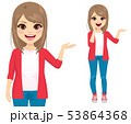 Young cute teenager girl different gestures 53864368