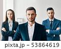 ビジネス チーム 微笑みの写真 53864619