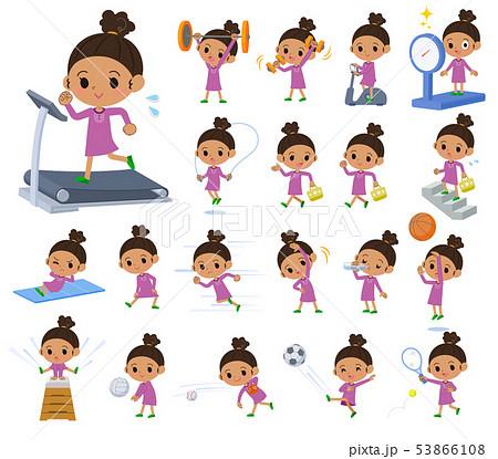 perm hair girl_exercise 53866108