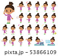 子供 女の子 幼児のイラスト 53866109