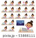 perm hair girl_desk work 53866111