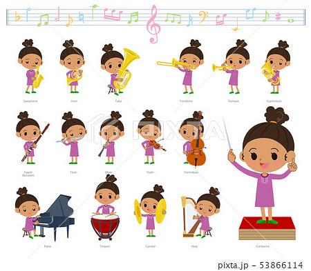 perm hair girl_classic music 53866114