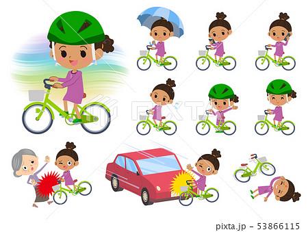 perm hair girl_city cycle 53866115