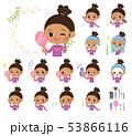 子供 女の子 ビューティーのイラスト 53866116