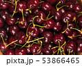 dark red ripe sweet cherry close up 53866465