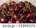 dark red ripe sweet cherry close up 53866474