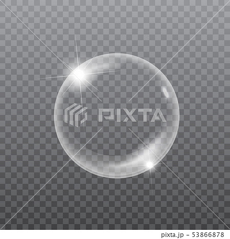 Soap or water bubble on transparent background. Vector 53866878