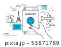 パスポート 旅券 旅行 53871789