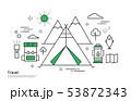 旅行 キャンプ キャンピング 53872343