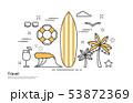旅行 サーフィン ヤシの木 53872369
