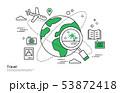 旅行 飛行機 ナビゲーション 53872418