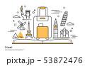 旅行 欧州 イラスト 53872476