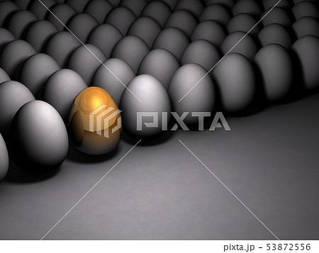 金の玉子を表すアブストラクト3DCGイラスト 53872556