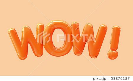WOW orange foil balloon 53876187