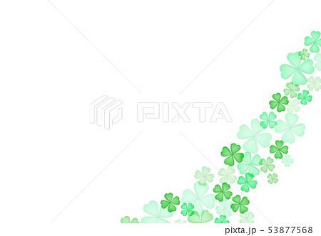 春緑クローバー背景 53877568