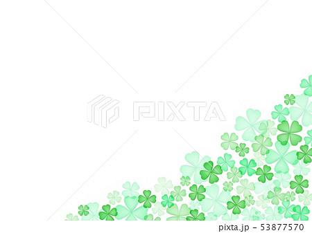 春緑クローバー背景 53877570
