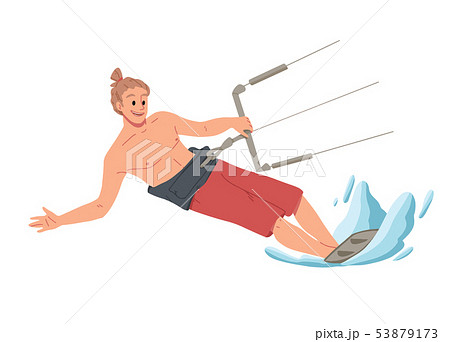 Man surfing, riding on the water. Summer leisure. 53879173
