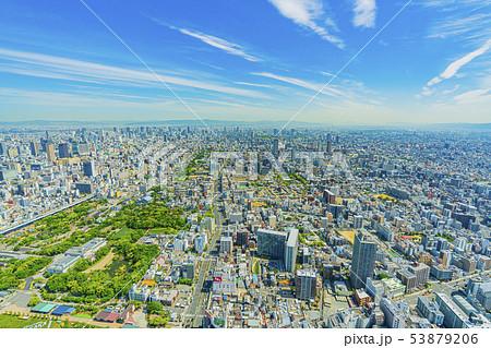 大阪 都市景観 あべのハルカスから北方向   53879206