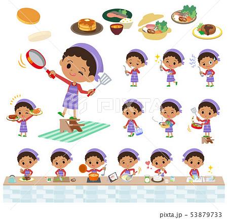 perm hair boy_cooking 53879733