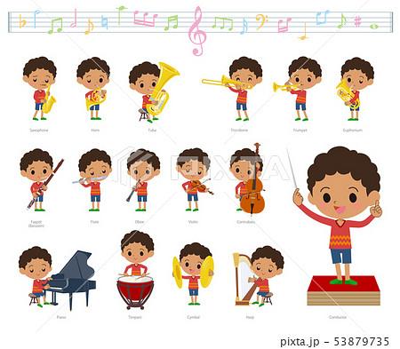 perm hair boy_classic music 53879735