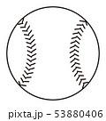 野球のボール Baseball ball イラスト ぬりえ 53880406