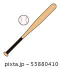 野球のバットとボール Baseball bat Baseball ball イラスト 53880410