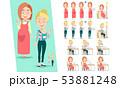 在宅勤務の妊娠中のフリーランサーの女性 53881248