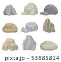 ストーン 石 石材のイラスト 53885814