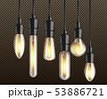 Vintage incandescent bulbs realistic vector set 53886721