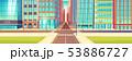 Metropolis empty street crossroads cartoon vector 53886727