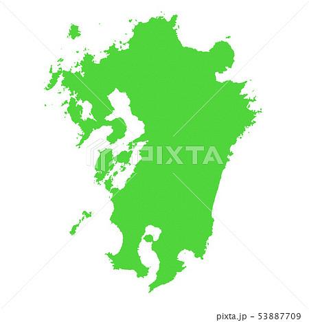 九州地図 53887709
