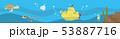 潜水艦と海中背景 53887716
