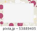 ホワイトボード-夏イメージ-和モダン-水玉 53889405