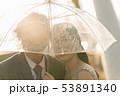 Silhouette couple prewedding under umbrella 53891340