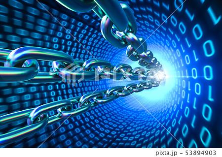 Blockchain Technology concept 53894903
