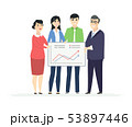 Business analytics - modern vector business cartoon characters illustration 53897446