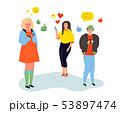 Loneliness on the Internet - colorful flat design style illustration 53897474