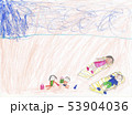 Children drawing, The child drew different animals and fictional characters. Made by a small child. 53904036